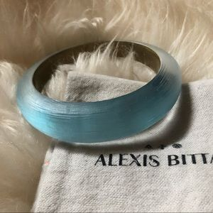 Alexis Bittar blue lucite bangle bracelet